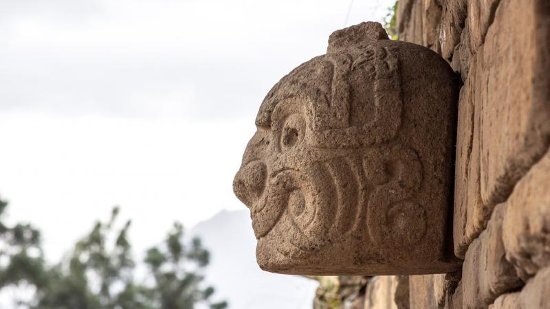 Chavin de Huantar - the famous stone heads in South America
