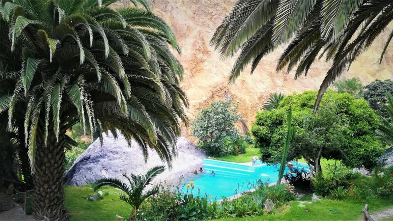 Tůra na dno kaňonu Colca do tropické oásy Sangalle